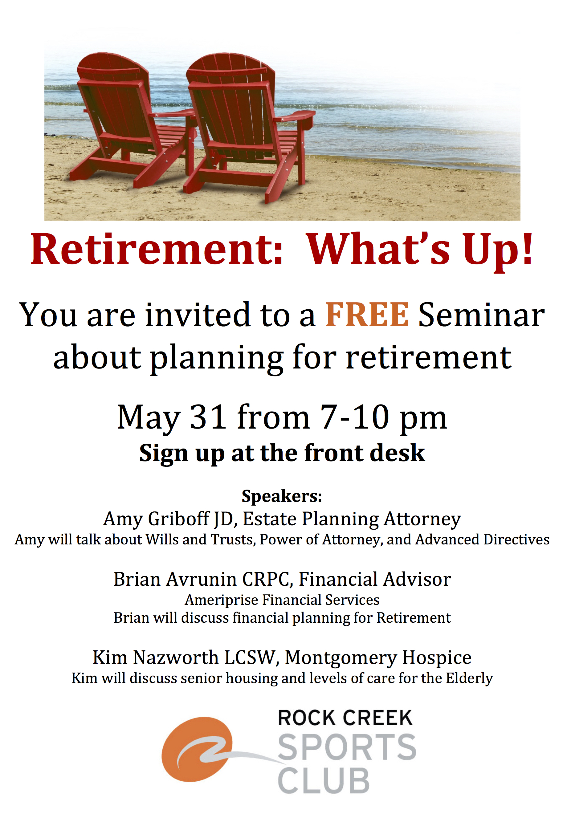 Planning for Retirement flyer copy