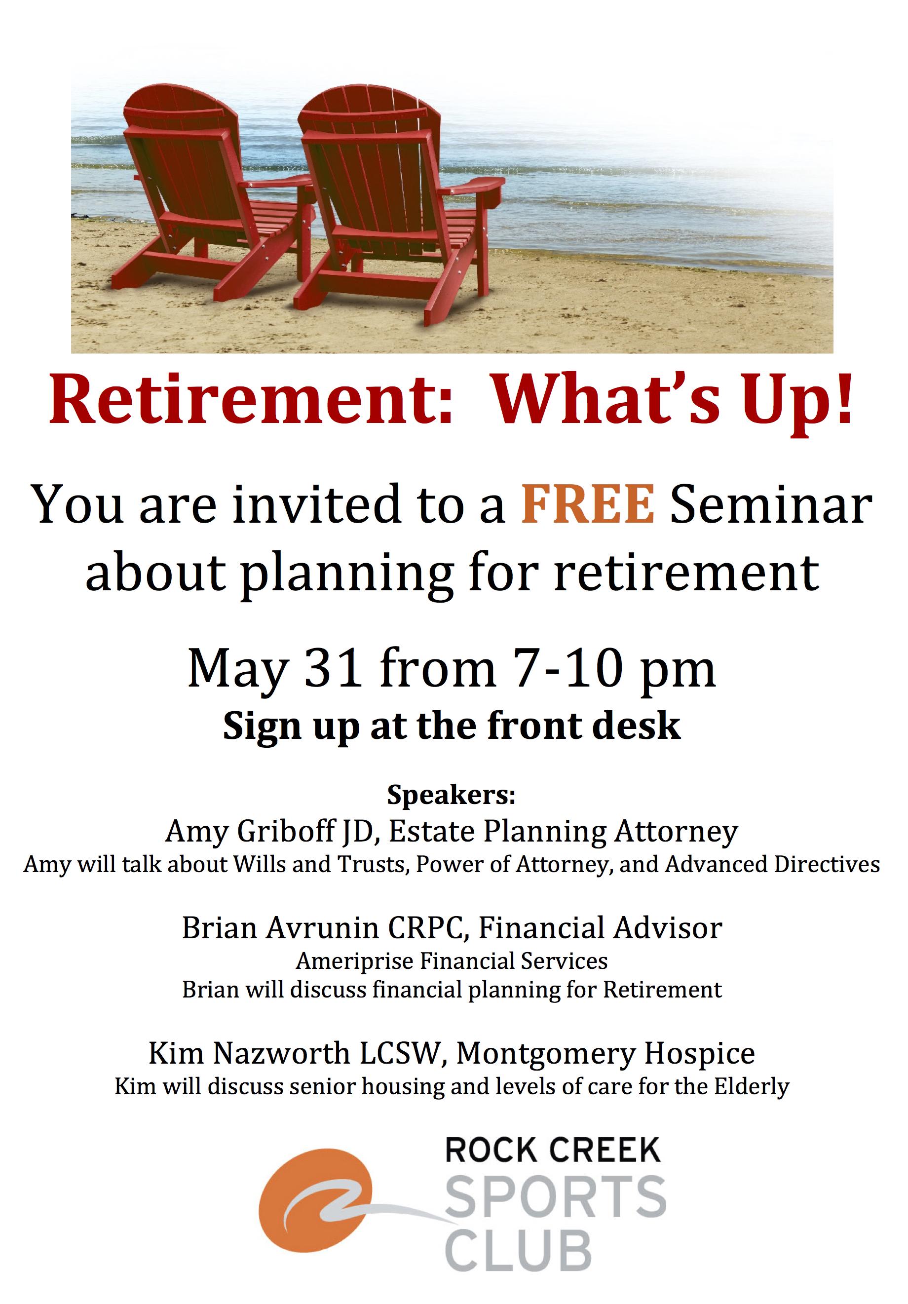 Planning for Retirement flyer copy