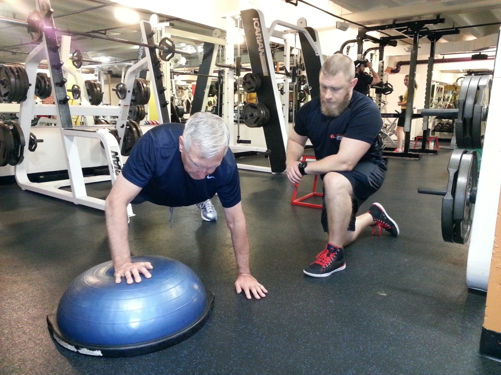 Vernon push up on Bosu