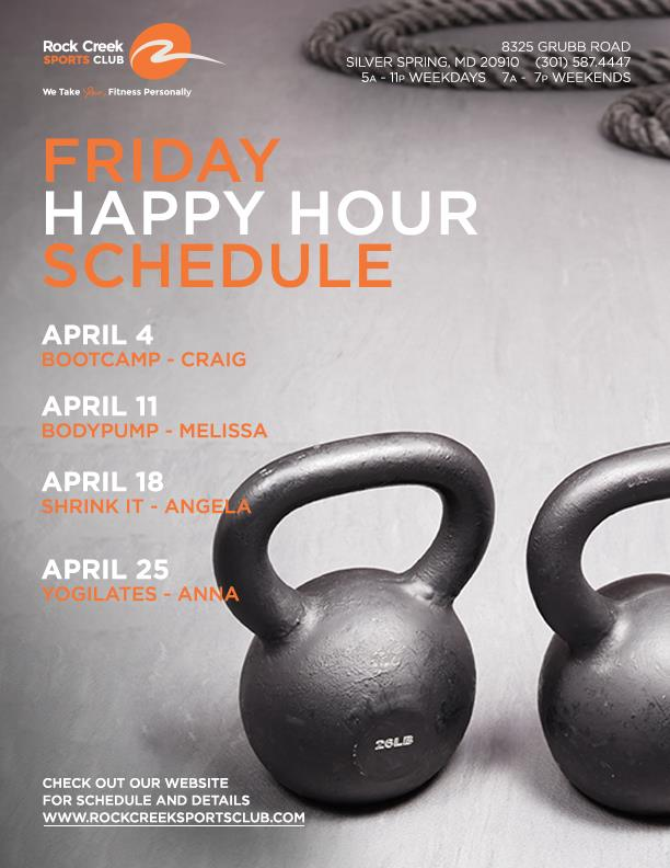 Happy Hour Workout Schedule